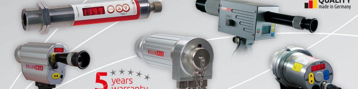 Keller非接触红外测温仪种类齐全,便携式和在线式红外测温仪可满足您的各种需求