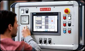 KELLER 削膜机配有两个控制元件图2