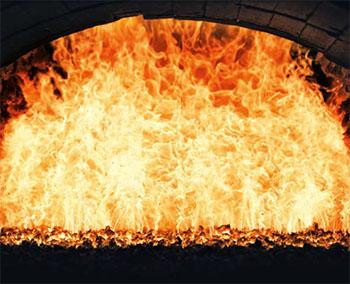 测量火焰加热炉温度